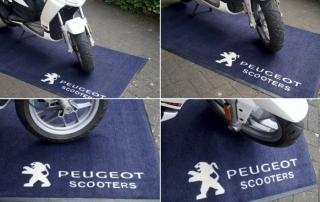 Premium Werbematte - Peugeot Scooters